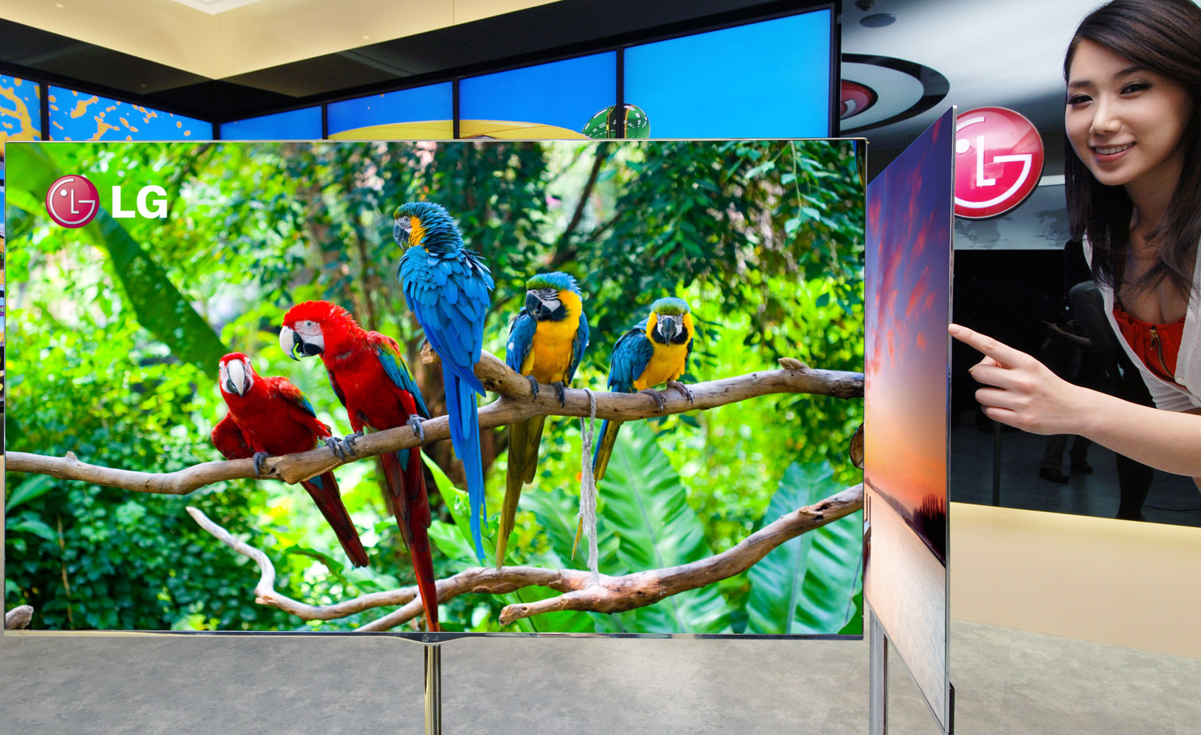 LG compite con televisores curvos