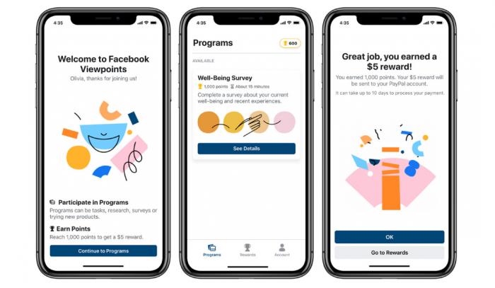 Facebook lanza app que te pagará por responder encuestas