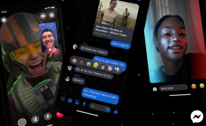 Facebook Messenger habilita tema y filtros de Star Wars