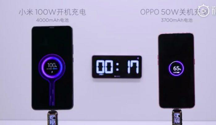 Xiaomi quiere que su carga ultra veloz de 100W se estrene este año