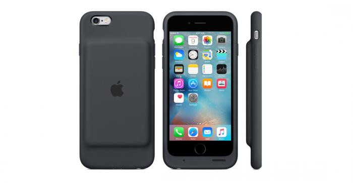 Apple lanza funda batería oficial para el iPhone 6s