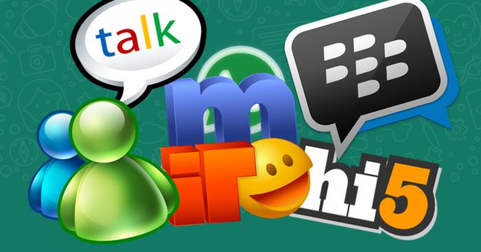 ¿Qué usaba la gente para «chatear» antes de Whatsapp?