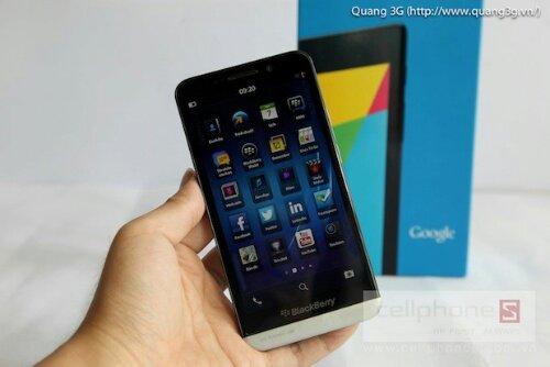 Blackberry Z30 filtrado en vídeo
