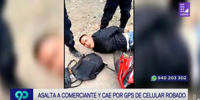 Delincuente es capturado gracias al GPS de su víctima en Los Olivos