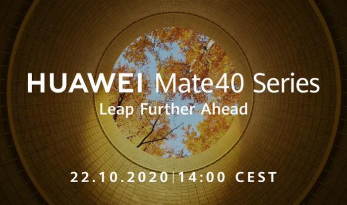El Huawei Mate 40 se presentará oficialmente el 22 de Octubre