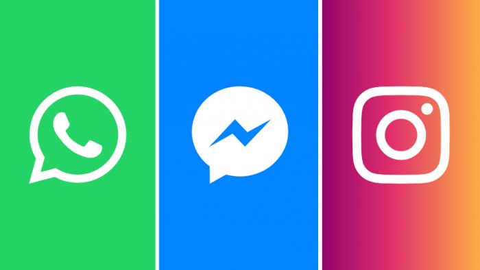 Facebook cambiará los nombres de Instagram y WhatsApp