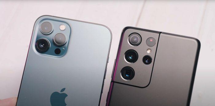 iPhone 12 Pro Max y Galaxy S21 Ultra se enfrentan en prueba de caídas